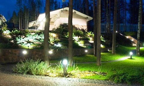 Садовое и ландшафтное освещение участка